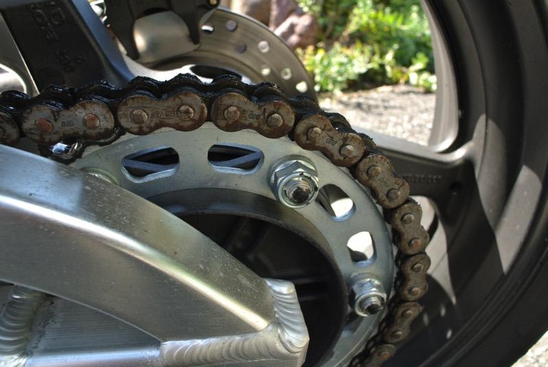 キタナイバイクのチェーンの図